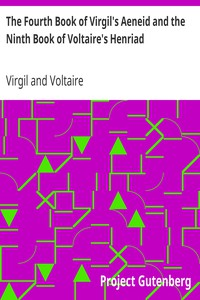 Cover of The Fourth Book of Virgil's Aeneid and the Ninth Book of Voltaire's Henriad