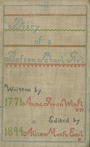 Cover of Diary of Anna Green Winslow, a Boston School Girl of 1771
