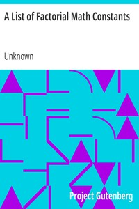 Cover of A List of Factorial Math Constants
