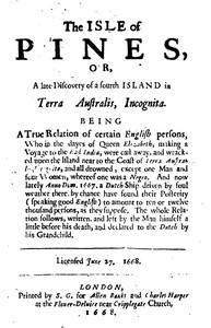 The Isle Of Pines (1668)and An Essay in Bibliography by Worthington Chauncey Ford