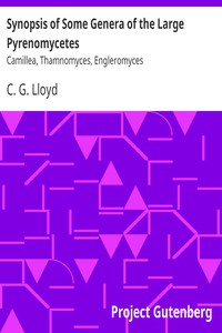 Cover of Synopsis of Some Genera of the Large Pyrenomycetes Camillea, Thamnomyces, Engleromyces