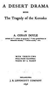 """Cover of A Desert Drama: Being The Tragedy Of The """"Korosko"""""""