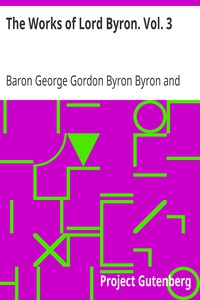 Cover of The Works of Lord Byron. Vol. 3
