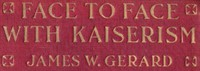 Cover of Face to Face with Kaiserism