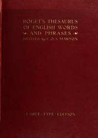 Cover of Roget's Thesaurus