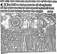 A Ioyfull medytacyon to all Englonde of the coronacyon of our moost naturall souerayne lorde kynge Henry the eyght(A Joyful Meditation of the Coronation of King Henry the Eighth)
