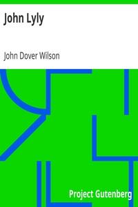 Cover of John Lyly