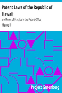 Cover of Patent Laws of the Republic of Hawaiiand Rules of Practice in the Patent Office