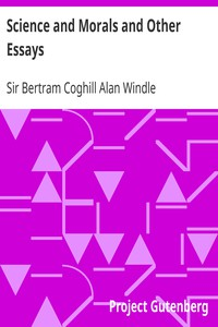 Cover of Science and Morals and Other Essays