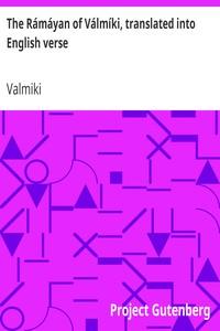 Cover of The Rámáyan of Válmíki, translated into English verse