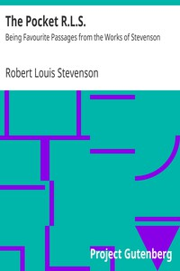 Cover of The Pocket R.L.S.: Being Favourite Passages from the Works of Stevenson