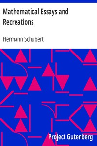 Cover of Mathematical Essays and Recreations