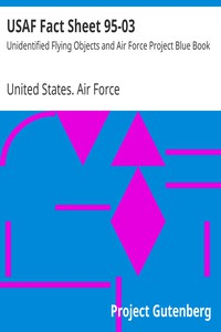 Cover of USAF Fact Sheet 95-03Unidentified Flying Objects and Air Force Project Blue Book