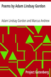 Cover of Poems by Adam Lindsay Gordon