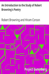 Cover of An Introduction to the Study of Robert Browning's Poetry