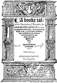 Cover of A booke called the Foundacion of Rhetorike because all other partes of Rhetorike are grounded thereupon, euery parte sette forthe in an Oracion vpon questions, verie profitable to bee knowen and redde