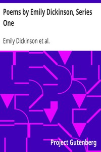 Cover of Poems by Emily Dickinson, Series One