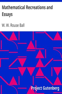 Cover of Mathematical Recreations and Essays
