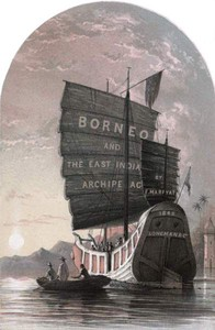 Cover of Borneo and the Indian Archipelagowith drawings of costume and scenery