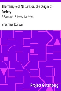 Cover of The Temple of Nature; or, the Origin of Society: A Poem, with Philosophical Notes