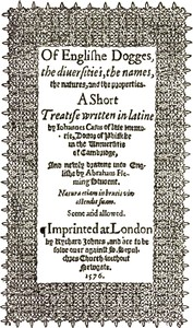Cover of De Canibus Britannicis: Of Englishe Dogges