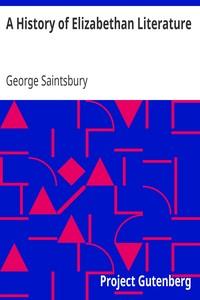 A History of Elizabethan Literature
