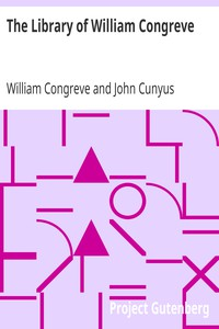 Cover of The Library of William Congreve