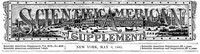 Cover of Scientific American Supplement, No. 488, May 9, 1885