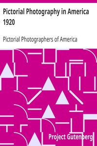Cover of Pictorial Photography in America 1920