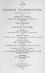 Cover of The Life of George Washington: A Linked Index to the Project Gutenberg Editions