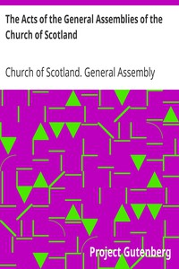 Cover of The Acts of the General Assemblies of the Church of Scotland