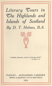 Cover of Literary Tours in The Highlands and Islands of Scotland
