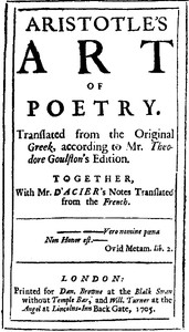 The Preface to Aristotle's Art of Poetry