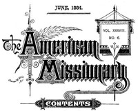 Cover of The American Missionary — Volume 38, No. 06, June, 1884