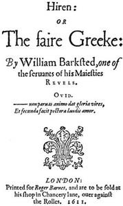 Cover of Seven Minor Epics of the English Renaissance (1596-1624)