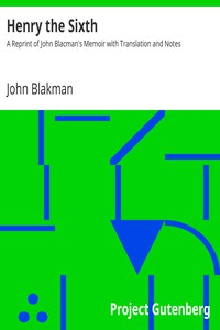 Cover of Henry the SixthA Reprint of John Blacman's Memoir with Translation and Notes