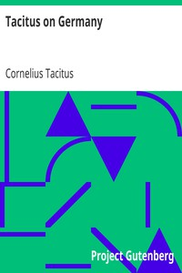 Cover of Tacitus on Germany
