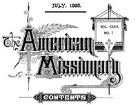 Cover of The American Missionary — Volume 39, No. 07, July, 1885
