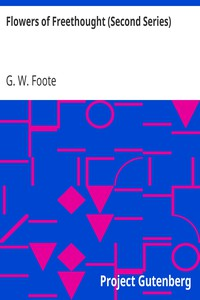 Cover of Flowers of Freethought (Second Series)