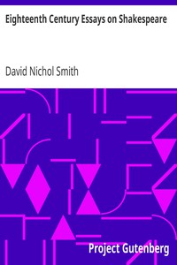 Cover of Eighteenth Century Essays on Shakespeare
