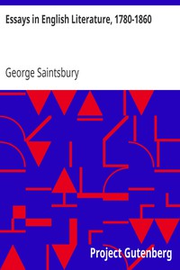 Cover of Essays in English Literature, 1780-1860