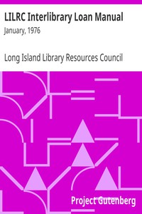 LILRC Interlibrary Loan Manual: January, 1976