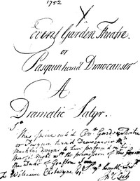 Cover of The Covent Garden Theatre, or Pasquin Turn'd Drawcansir