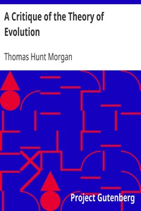 Cover of A Critique of the Theory of Evolution