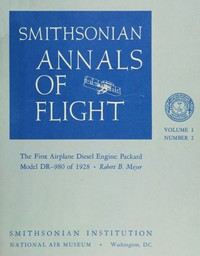 Cover of The First Airplane Diesel Engine: Packard Model DR-980 of 1928