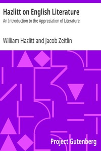 Cover of Hazlitt on English Literature: An Introduction to the Appreciation of Literature