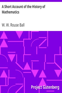 Cover of A Short Account of the History of Mathematics