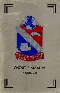 Delco Radio Owner's Manual Model 633; Delcotron Generator Installation