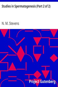 Cover of Studies in Spermatogenesis (Part 2 of 2)