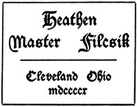 Cover of Heathen Master Filcsik
